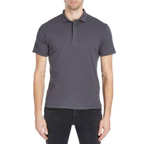 Bolongaro Trevor Charcoal Nord Cotton Polo Shirt