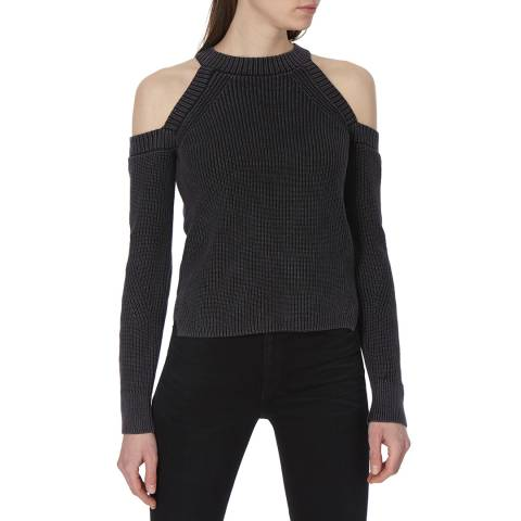 Rag & Bone Women's Black Dana Cold Shoulder Jumper