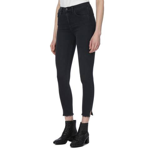 Rag & Bone Women's Black Flamingo 10 Inch Capri Jeans