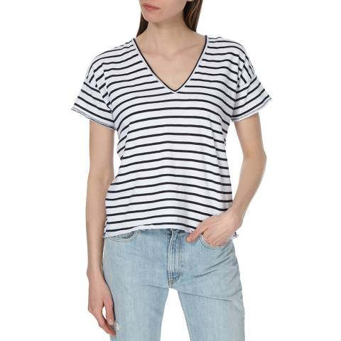 Rag & Bone Women's Navy/White Dakota T-Shirt
