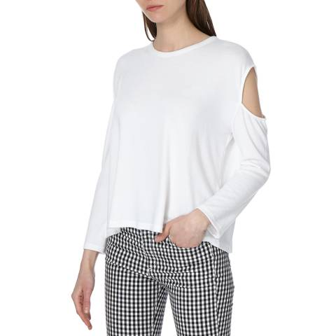 Rag & Bone Women's Bright White Slash Long Sleeve Top