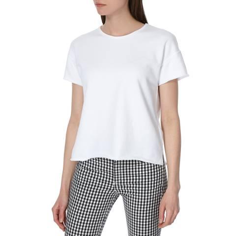 Rag & Bone White Terry Vintage Short Sleeve Jumper