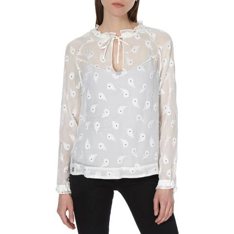 Rag & Bone IVORY MULTI BENNETT TOP