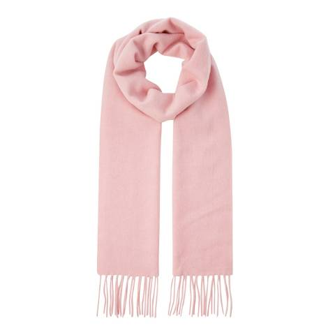 Scott & Scott London Light Pink Woven Cashmere Scarf
