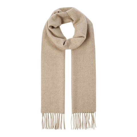 Scott & Scott London Natural Brown Woven Cashmere Scarf