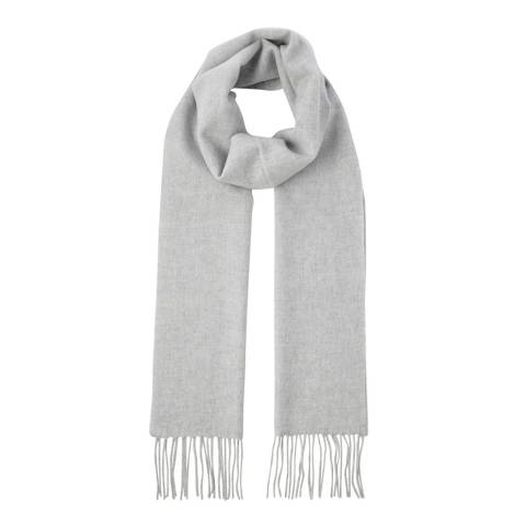 Scott & Scott London Silver Grey Woven Cashmere Scarf