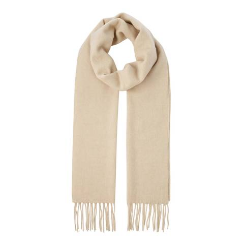 Scott & Scott London Light Brown Woven Cashmere Scarf