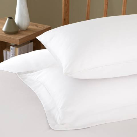 IJP 400TC Pair of Oxford Pillowcases, White