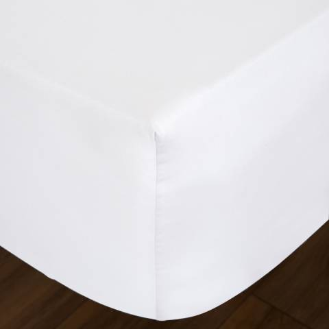 IJP 400TC King Fitted Sheet, White