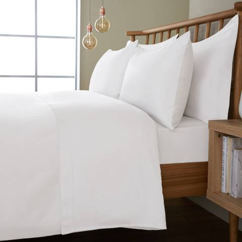 IJP 400TC King Flat Sheet, White