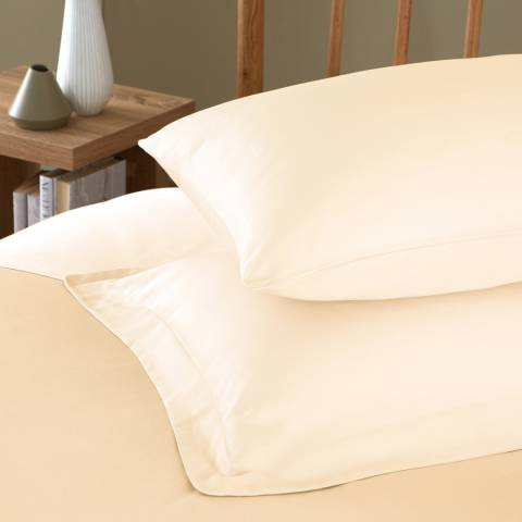 IJP 400TC Pair of Housewife Pillowcases, Cream