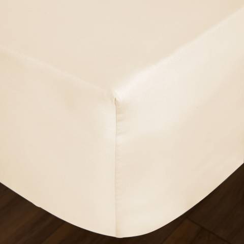 IJP 400TC Double Fitted Sheet, Cream