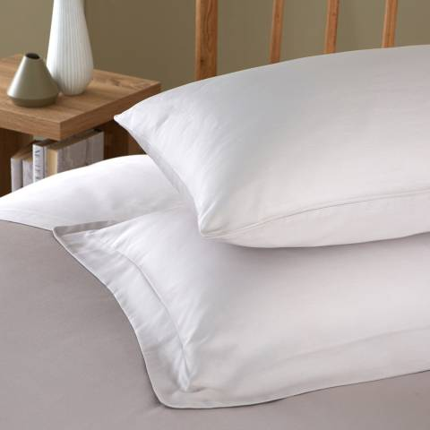 IJP 400TC Pair of Oxford Pillowcases, Silver