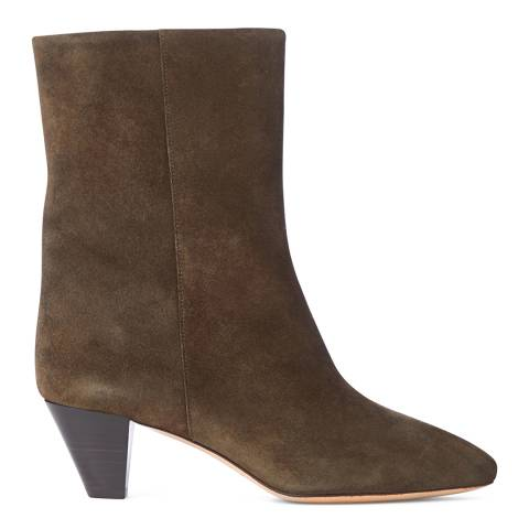 Isabel Marant Women's Brown Suede Dyna Boot