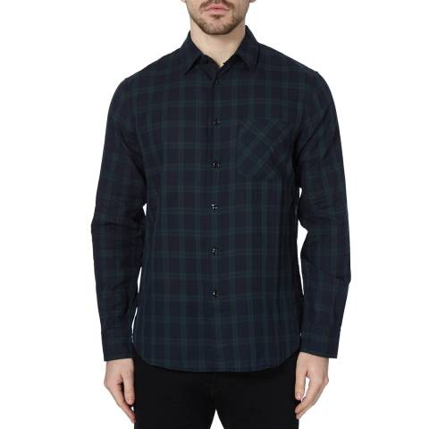 Rag & Bone Men's Navy/Green Beach Shirt