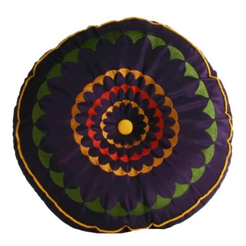 Paoletti Damson/Yellow Romany Cushion 35x35cm