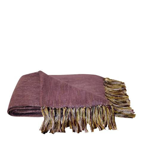 Paoletti Plum Chiltern Throw 127x180cm