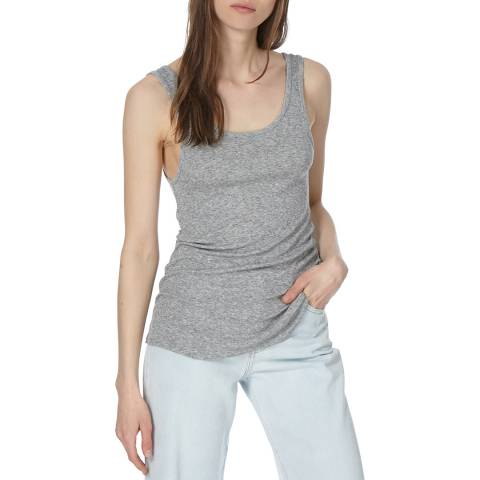 American Vintage Grey Round Neck Tank Top