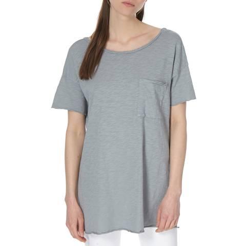 American Vintage Grey Vintage Round Collar T-Shirt