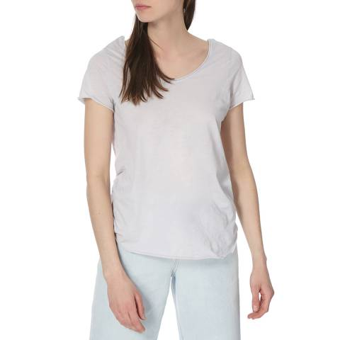 American Vintage Grey Relaxed Cotton T-Shirt
