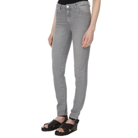 American Vintage Grey Bleached 5 Pocket Skinny Jeans