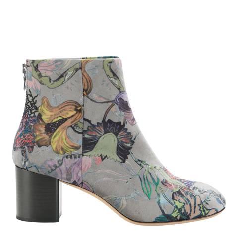 Rag & Bone Grey Floral Velvet Drea Boots