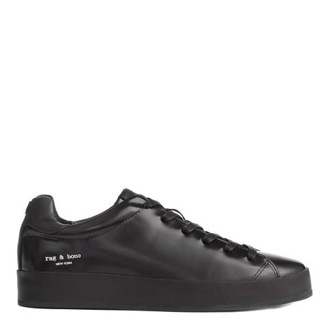 Rag & Bone Black Leather Rb1 Low Trainers