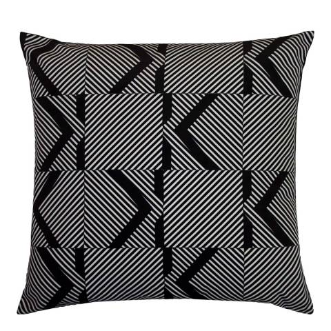 Karl Lagerfeld Optical Monochrome Cushion 45 x 45cm