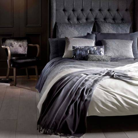 Karl Lagerfeld Stria Flint Super King Duvet Cover