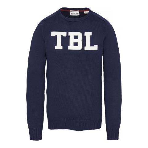 Timberland Men's Navy Stop River Logo Sweatshirt