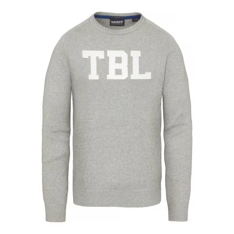 Timberland Men's Grey Stop River Logo Sweatshirt