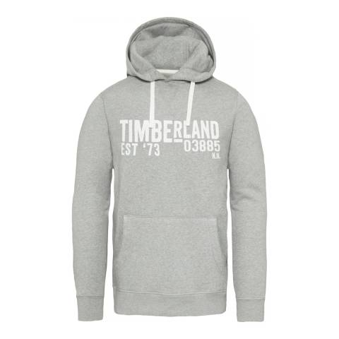 Timberland Men's Grey Exeter River Hooded Sweatshirt