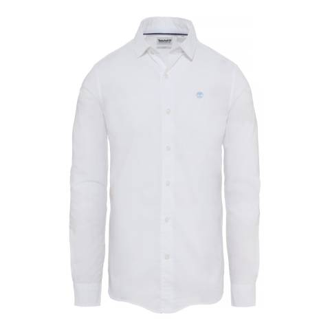 Timberland Men's White Suncook River Poplin Shirt