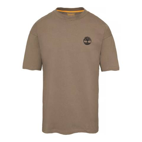 Timberland Men's Light Grey Oversized T-Shirt