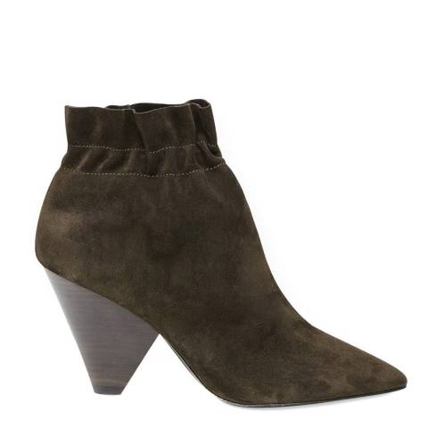 ASH Green Suede Dafne Ankle Boots