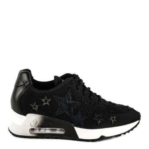 ASH Black Knit Lucky Star Apllique Sneakers