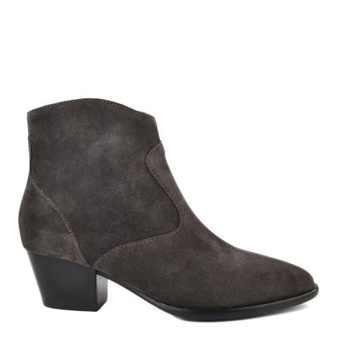 ASH Charcoal Suede Heidi Bis Ankle Boots
