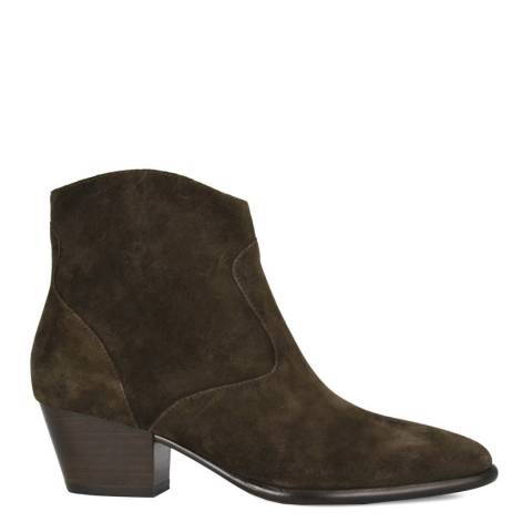 ASH Green Suede Heidi Bis Ankle Boots