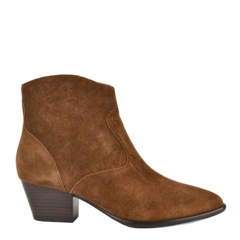 ASH Russet Suede Heidi Bis Ankle Boots