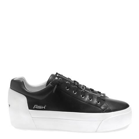 ASH Black Leather Buzz Platform Sneakers