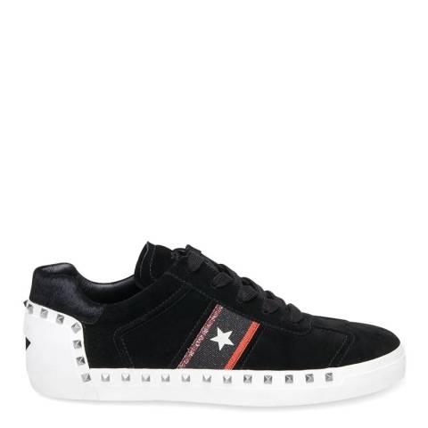 ASH Black Suede Neo Silver Stud Sneakers