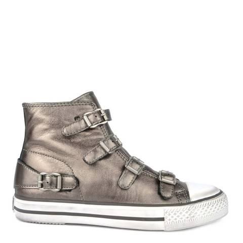ASH Stone Leather Virgin Buckle Sneakers