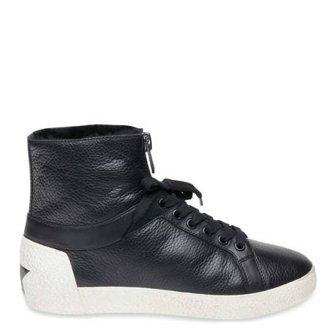 ASH Black Leather Nomad Hi-Top Shearling Sneakers