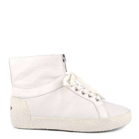 ASH Off White Leather Nomad Hi-Top Sneakers