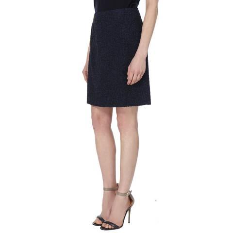 L K Bennett Blue Cheryl Tweed Skirt