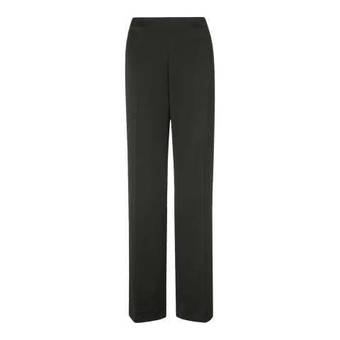 L K Bennett Black Delaux Wide Leg Trousers