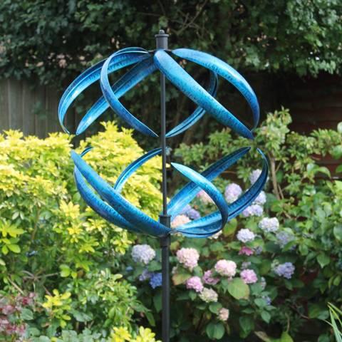 Creekwood Blue Sphere Wind Sculpture