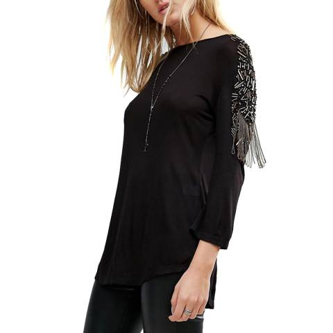 Bolongaro Trevor Black Embellished Military T-Shirt