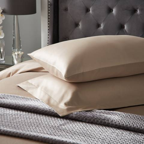 Hotel Living 1000TC Pair of Housewife Pillowcases, Flax