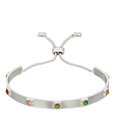 Orla Kiely Silver Swarovski Flowers Toggle Bracelet